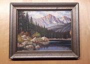 Ölgemälde Gemälde Bild Bergsee mit