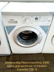 Siemens Waschmaschine 12 Monate Garantie