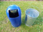 Großer PUSH-Papierkorb in blau