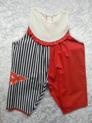 Babyanzug Marinelook Sommeranzug Babygeschenk rot-weiss-blau