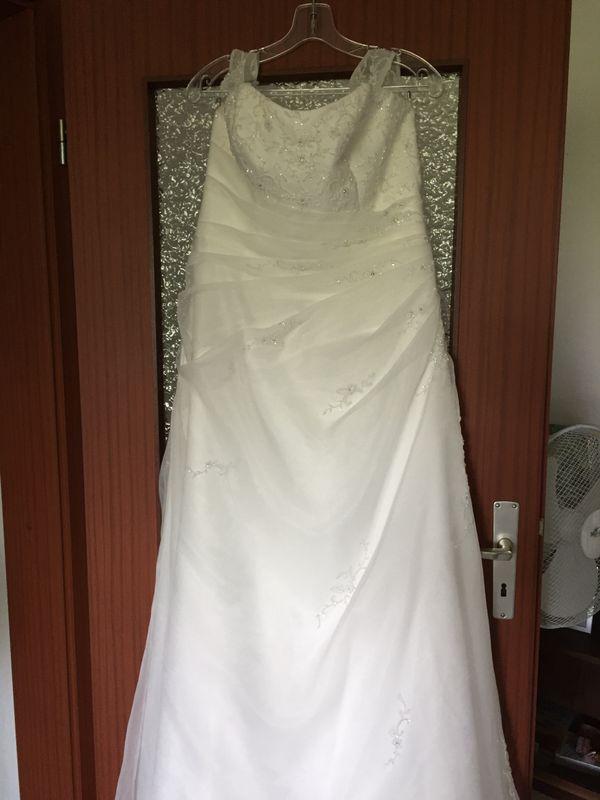 Wunderschönes Brautkleid Ivory Organza A-Linie