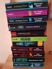 11 Andreas Franz Bücher kompl
