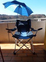 Outdoor Sessel klappbar mit Beinablage