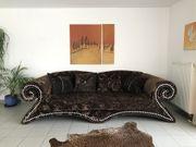 Bretz Mammut Dreisitzer Sofa Braun