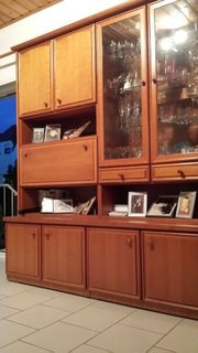 Wohnwand Schrankwand aus Kirschenholz mit