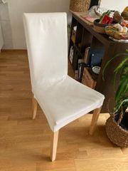 4x Ikea weiße Ikea Stühle