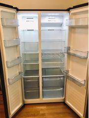 Kühlschrank Side by Side schwarz