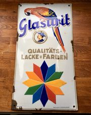 Original Emailschild Glasurit Lacke