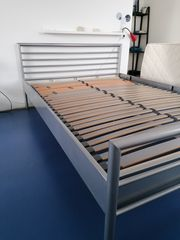 Metallbett mit Marken-Lattenrost 140x200
