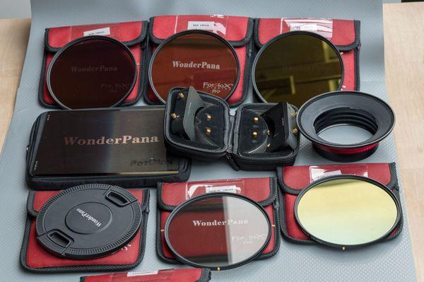FOTODIOX Pro WonderPana Set 145mm Slim CPL, ND4, 8, 16, 32 NK1424-145, ND 0. 6 SE incl Halter 66
