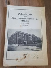 Jahresbericht Oberschule Weiden 1938 39