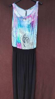Größe 44 Overall schwarz bunt-Muster