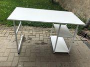 Schreibtisch in weiß günstig abzugeben