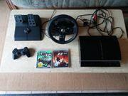 Playstation 3 mit Lenkrad und