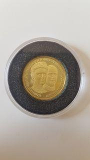Goldmünze Niederlande 2001 penning eeuwfeest
