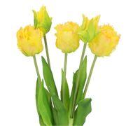 Künstlicher Tulpenstrauß für Grabvasen Gelbe