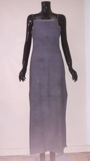 Graues Maxikleid Abendkleid Langes Kleid