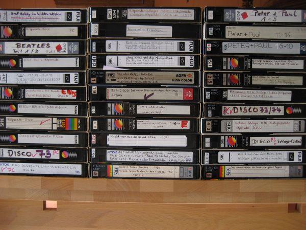 VHS Viedokassetten 40 » CDs, DVDs, Videos, LPs