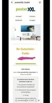 PosterXXL Gutschein Fotobuch etc