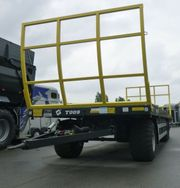 Metallfach T009 Ballenwagen 3-Achsiger Plattformanhänger