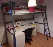 Ikea Hochbett Svärta inklusive Schreibtisch