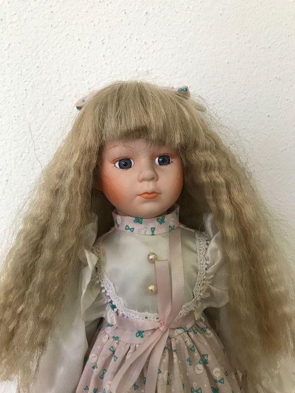 Sammler Puppe 39 cm Porzellan