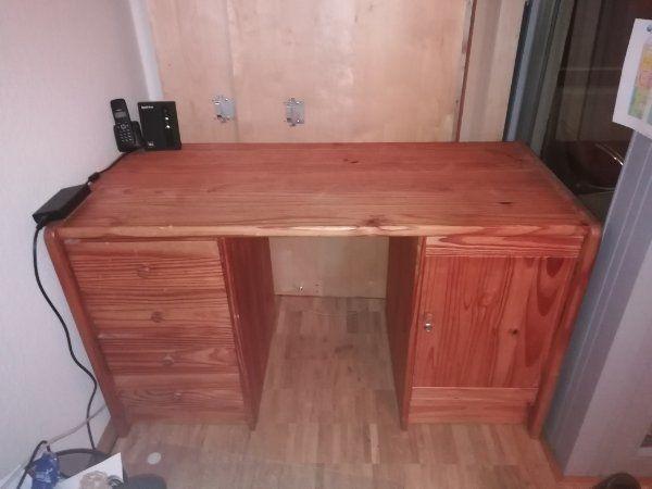 Schreibtisch massiv Holz kiefer
