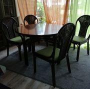 Schöner Tisch Esstisch Holztisch Rattantisch