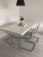 Westwing Esstisch mit 6 Ikea