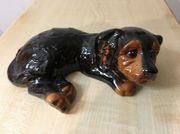 Porzellan Hund von Goebel 22cm