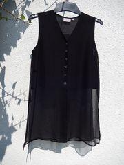 Halbtransparente schwarze Bluse oder leichtes