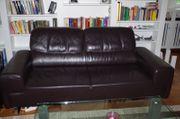 Glattleder Designer Couch wenig benutzt