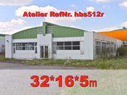 Künstler Atelier 32x16x5m Stahlhalle Gewerbehalle