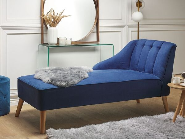 Chaiselongue Polsterbezug blau SEVIS neu -