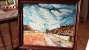 Ölbild Dorfweg