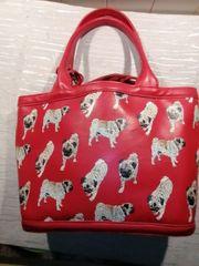 Rote MOPS Handtasche