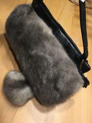 Handtasche Nerz Pelz Vintage Leder