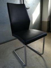 Verkaufe 4 schwarze Stühle