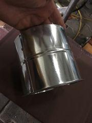 Kamin Ofen Heizung Doppelwandfutter verchromt