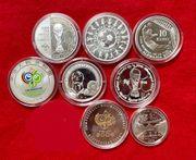 Fußball WM 2006 8 Silbermünzen