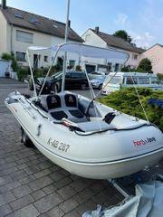 Motorboot Honwave mit Motor Trailer