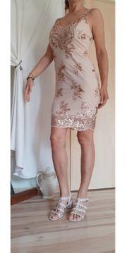 Paillettenkleid rose rosegold Kleid M