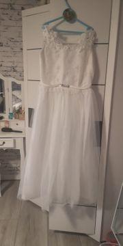 Mädchen Kleid weiß