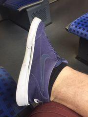 Getragene Nike Sneaker