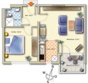 Senioren 2- Zimmer Wohnung ab