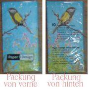 10 Taschentücher 4-lagig mit Vogelmotiv