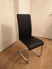 6 Stück Esszimmerstühle Stühle Kunstleder