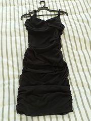 Abendkleid schwarz mit Trägern