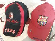 FC BARCELONA AC MILAN CAPS