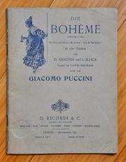 Die Bohème - Giacomo Puccini - RICORDI